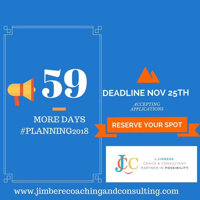 Accepting Applications ► Planning 2018 Coaching & Consulting