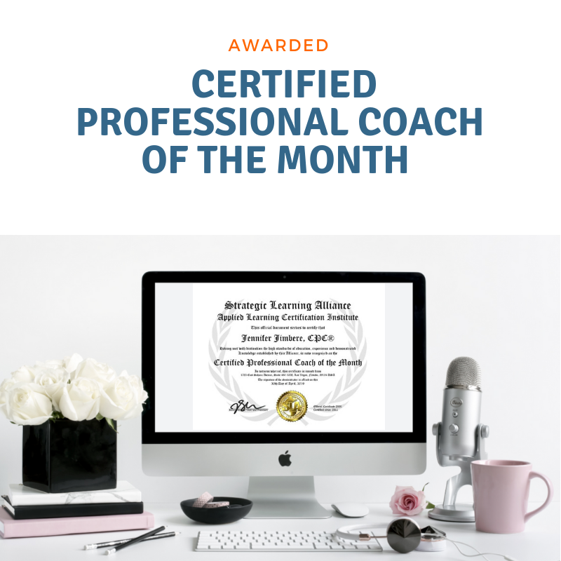 Awarded Certified Professional Coach of the Month