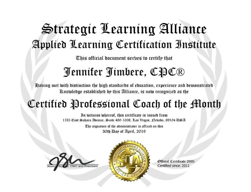 Certified Professional Coach of the Month