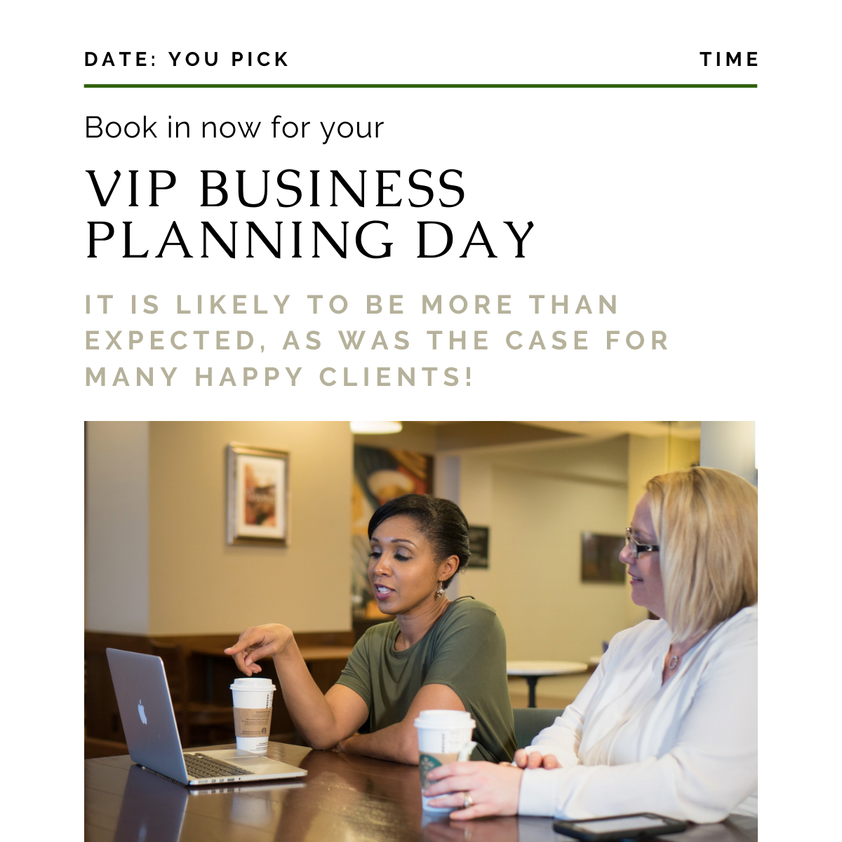 VIP Business Planning Day Can Be More Than You Expect!
