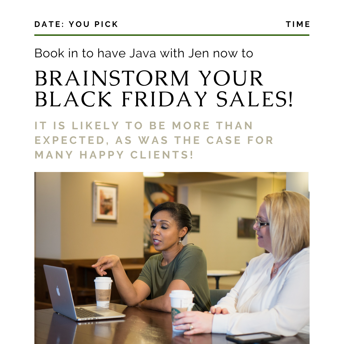 Brainstorm Your Black Friday Sales!