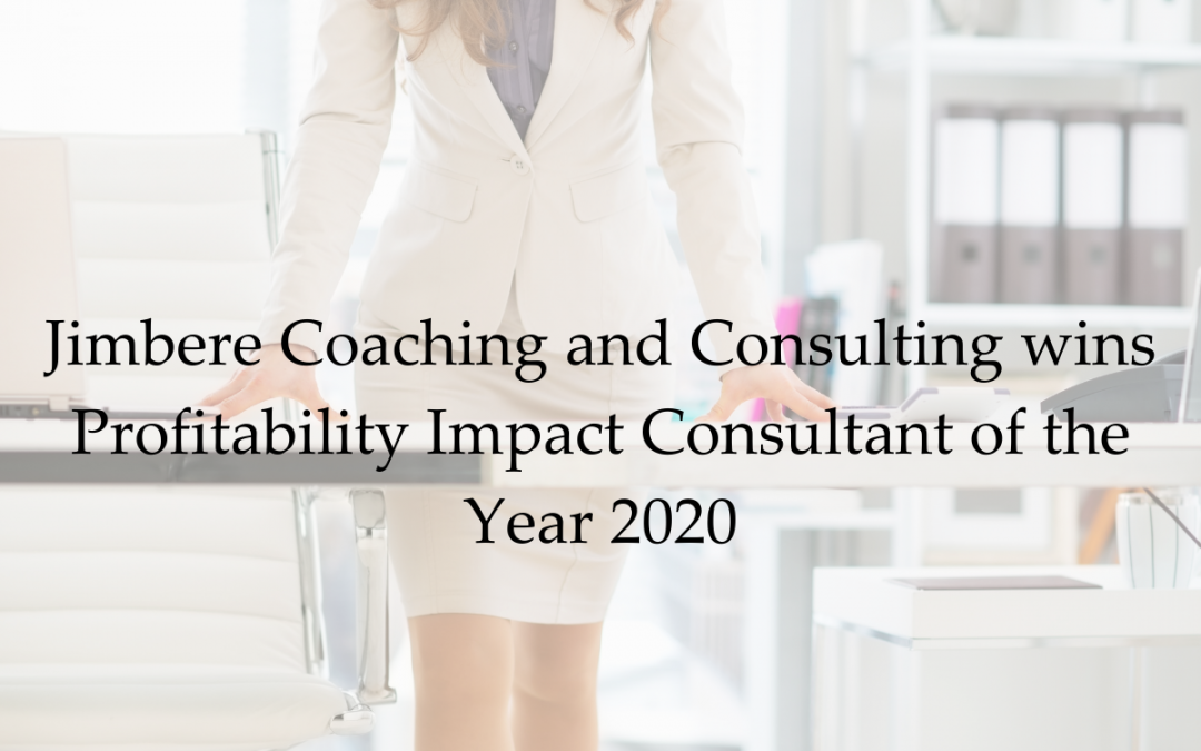 Jimbere Coaching and Consulting wins Profitability Impact Consultant of the Year 2020